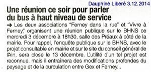 3.12.2014 Dauphiné Libéré